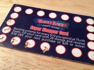 thrift town card